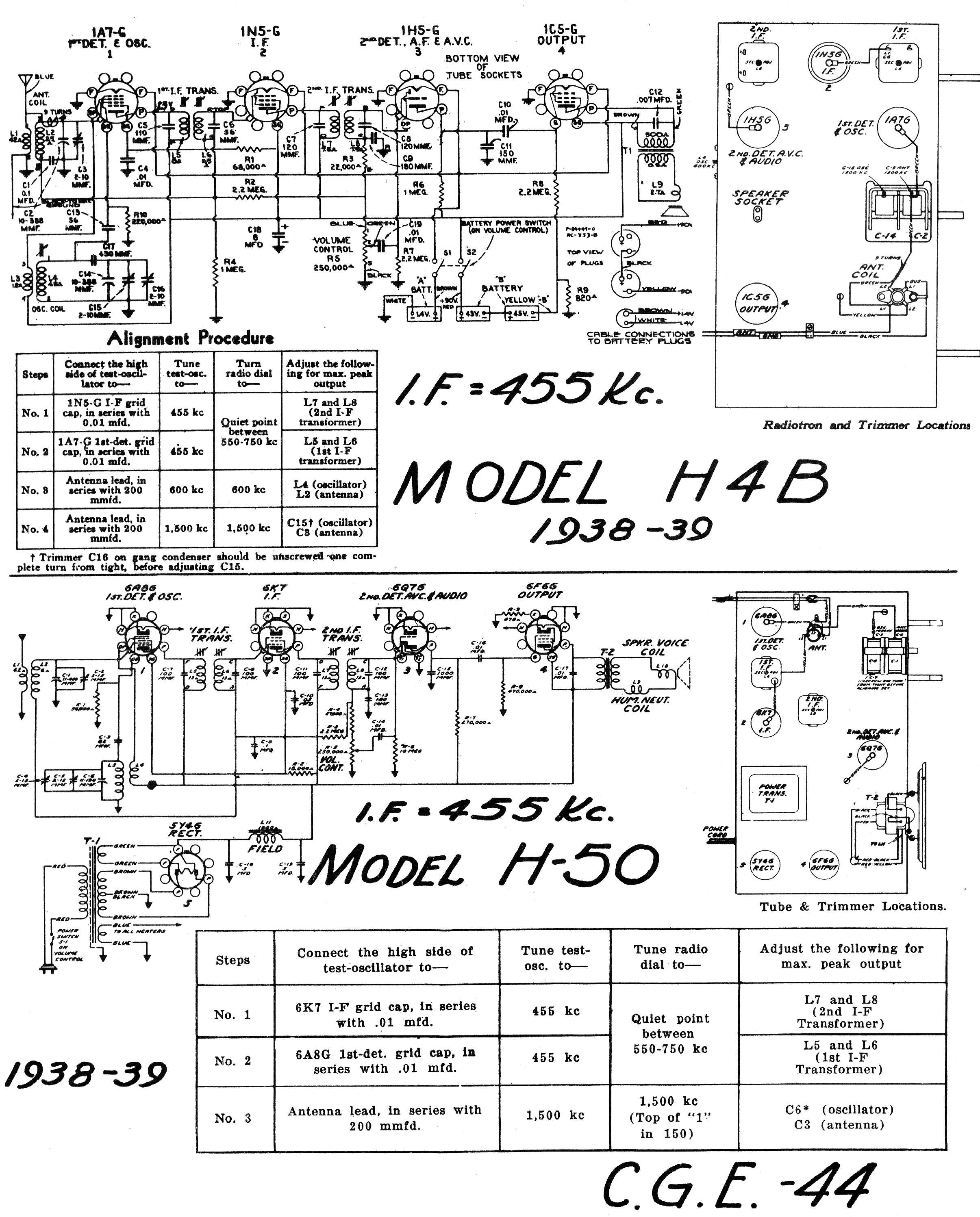 diagrams and service data for general electric h