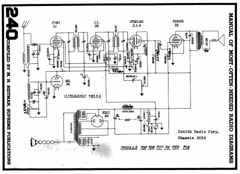 zenith radio diagram hitachi radio wiring diagram